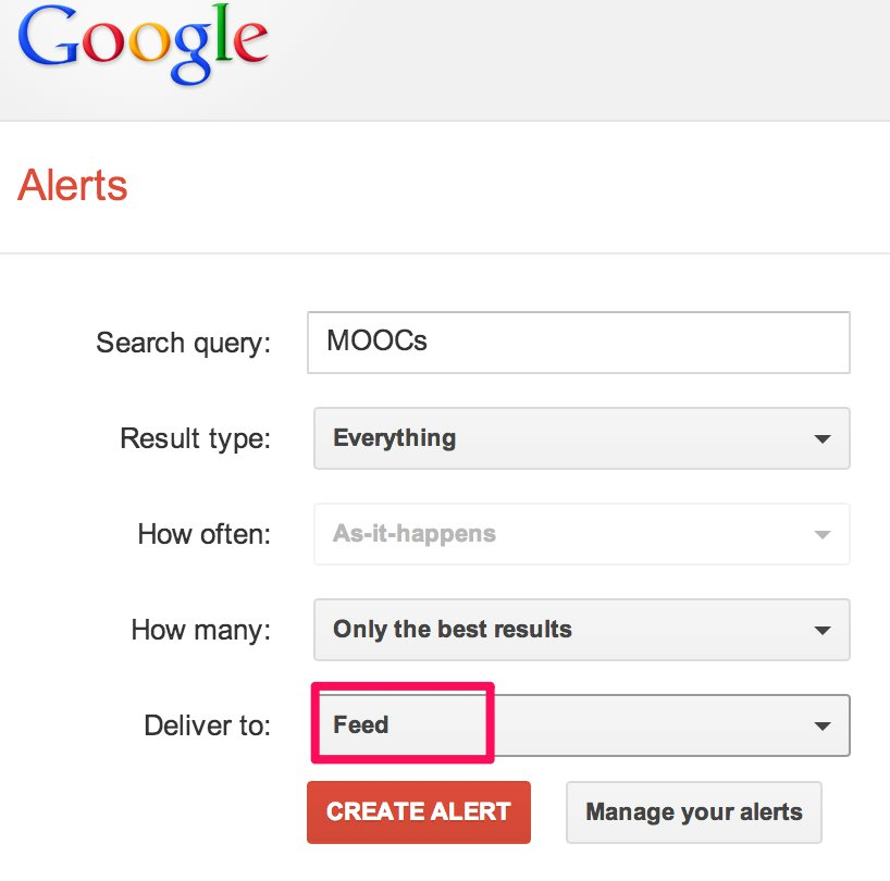 How to Receive Google Alerts in your RSS Reader   New